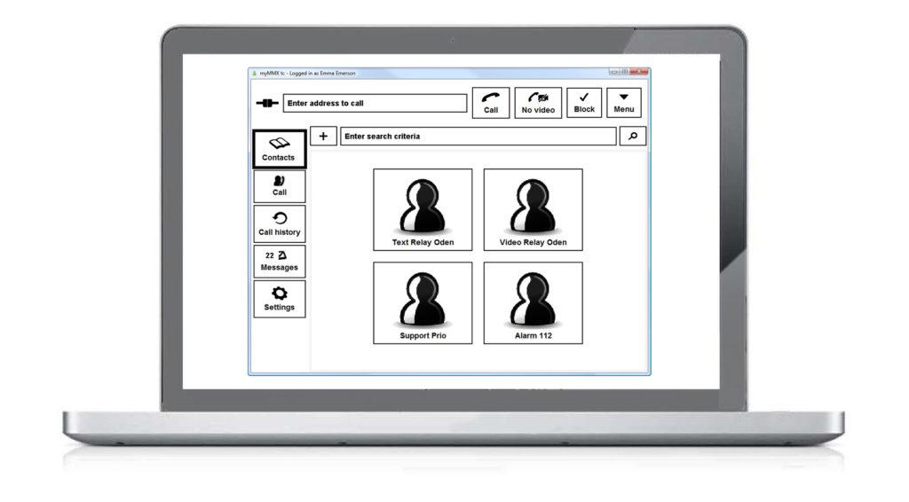 Bilden visar kontaktsidan för myMMX db